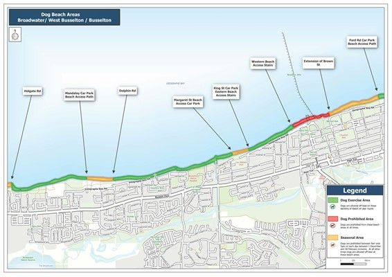 Dog Exercise Areas - Beaches - Dog Beach Area - Broadwater, West