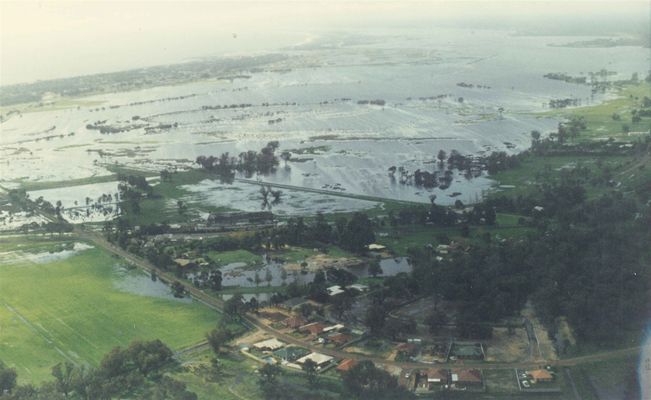 150 Years of Local Government - 1999 Busselton Floods 1999 Aerial Shot