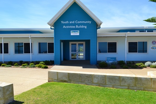 Youth and Community Activities Building Entry from Beach Side